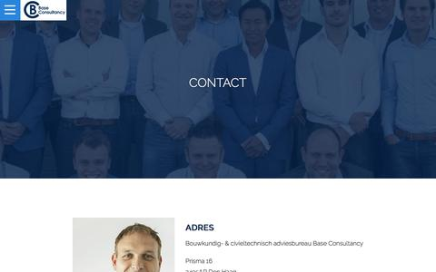 Screenshot of Contact Page base-consultancy.nl - Contact | Base Consultancy - captured May 31, 2017
