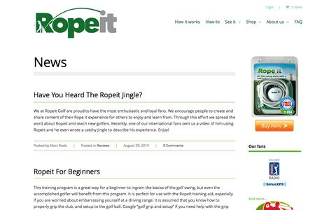 Screenshot of Press Page theropeit.com - News | The Ropeit - captured Oct. 6, 2014