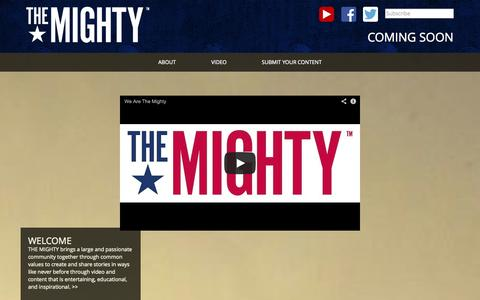 Screenshot of Home Page wearethemighty.com - Home - We Are The Mighty - captured Oct. 6, 2014
