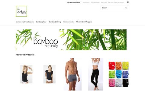 Screenshot of Home Page bamboonaturally.com.au - Bamboo Naturally - captured July 28, 2016