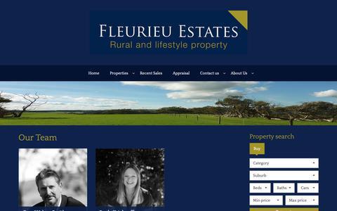 Screenshot of Team Page fleurieuestates.com.au - Fleurieu Estates Pty Ltd - Our Team - captured Oct. 10, 2018