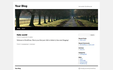 Screenshot of Home Page sdbcisco.com - Your Blog | Just another WordPress site - captured Oct. 3, 2014