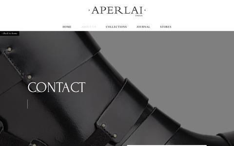 Screenshot of Contact Page aperlai.com - Contact us - captured Oct. 1, 2014