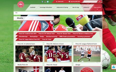 Screenshot of Press Page dbu.dk - Media - captured Nov. 8, 2016