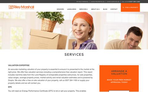 Screenshot of Services Page rileymarshall.co.uk - Services - captured June 15, 2017