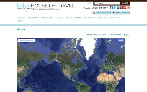 Screenshot of Maps & Directions Page houseoftravel.net - Travel maps – house of travel - captured Sept. 23, 2014