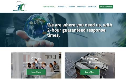 Screenshot of Locations Page trinitytechinc.ca - Our Locations | Trinity Tech Inc. - captured Nov. 10, 2017