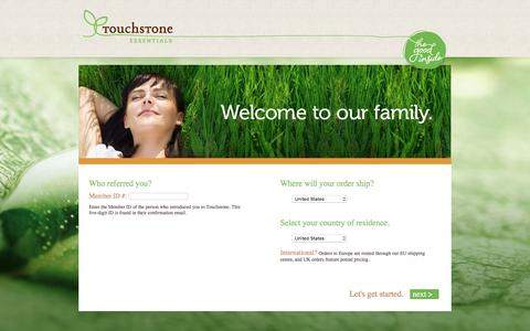 Screenshot of Signup Page mytouchstoneoffice.com - Enrollment - captured Dec. 24, 2016