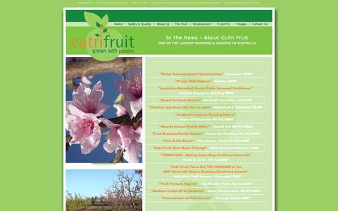 Screenshot of Press Page cutrifruit.com.au - Media News- Cutri Fruit Stone Fruit Farm - large fruit grower & packer - captured Sept. 30, 2014