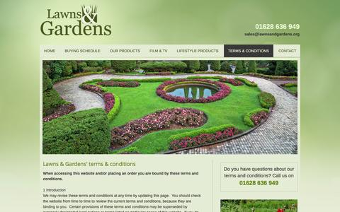 Screenshot of Terms Page lawnsandgardens.org - Lawns & Gardens' Terms & Conditions | Maidenhead, Berkshire - captured Jan. 26, 2016