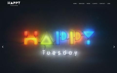 Screenshot of Home Page happy-tuesday.com - Happy Tuesday | We create fun mobile games - captured Dec. 7, 2015