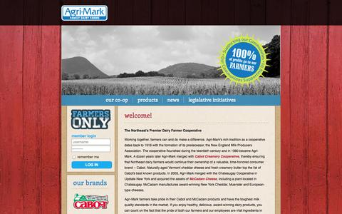 Screenshot of Home Page agrimark.coop - Agri·Mark Family Dairy Farms | home - captured Oct. 4, 2014