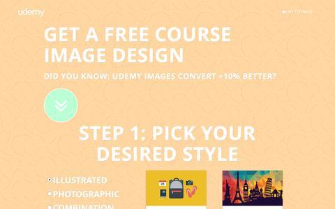 Screenshot of Landing Page udemy.com - Udemy Design Service - captured Oct. 22, 2016