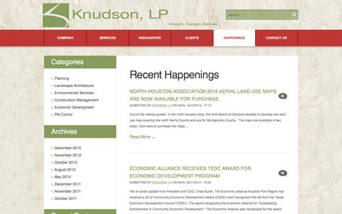 Screenshot of Blog knudsonlp.com - Knudson, LP | - captured Aug. 9, 2016
