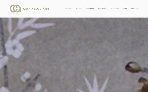 Screenshot of Home Page culpassociates.com - Culp Associates - captured Dec. 14, 2015