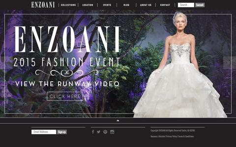 Screenshot of Home Page enzoani.com - Wedding Dresses & Bridal Gowns Summer/Winter 2015 Collection UK - Enzoani | Enzoani - captured Oct. 16, 2015