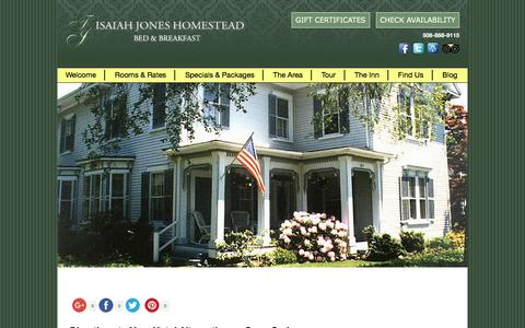 Screenshot of Contact Page Maps & Directions Page isaiahjones.com - Hotel Alternative on Cape Cod in Historic Village of Sandwich - captured April 26, 2017
