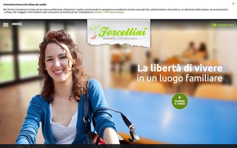Screenshot of Home Page residenzaforcellini.it - Residenza Universitaria - Collegio Femminile Padova - Residenza Forcellini - captured Jan. 30, 2017