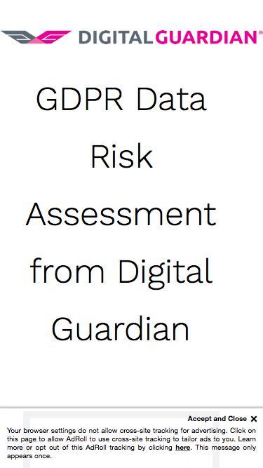 GDPR Data Risk Assessment from Digital Guardian
