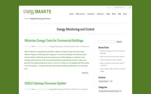 Screenshot of Blog swesmarts.com - Energy Monitoring and Control Archives - SW Energy Smarts - captured Oct. 6, 2014
