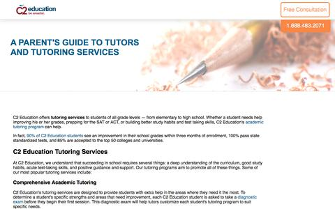 Screenshot of c2educate.com - A Parent's Guide to Tutors and Tutoring Services - captured June 26, 2017
