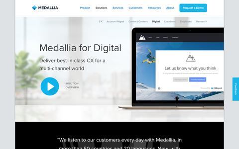 Medallia for Digital and eCommerce - Medallia Solutions