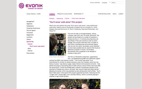 Film project #EvonikYNWA - Evonik Industries - Specialty Chemicals