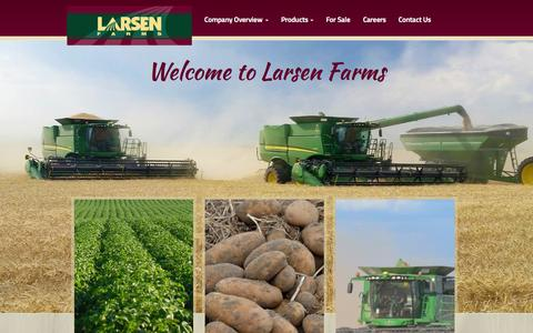 Screenshot of Home Page larsenfarms.com - Welcome to Larsen Farms | Larsen Farms - captured July 19, 2015