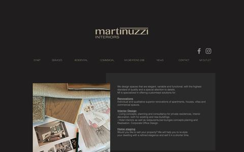 Screenshot of Services Page martinuzzi.ch - Services - captured Oct. 1, 2018