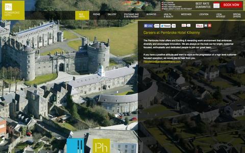 Screenshot of Jobs Page kilkennypembrokehotel.com - Pembrok Hotel Careers | Kilkenny Hotel Careers | Careers in Kilkenny hotel - captured Oct. 2, 2014