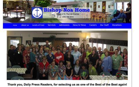 Screenshot of Home Page bishopnoahome.com - Bishop Noa Home - captured May 14, 2016