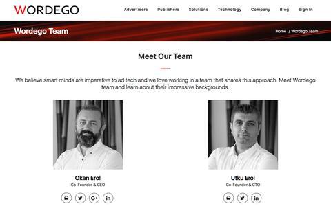 Screenshot of Team Page wordego.com - Team - Wordego - captured Sept. 22, 2018