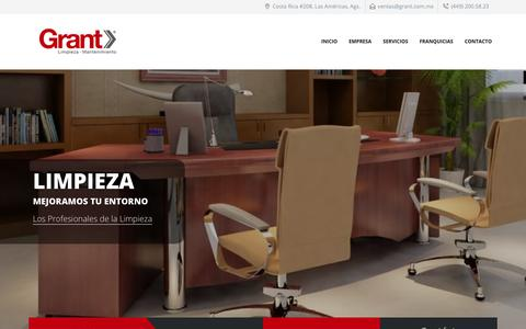 Screenshot of Home Page grant.com.mx - GRANT NBR México.- Limpieza y Mantenimiento - captured Sept. 30, 2018