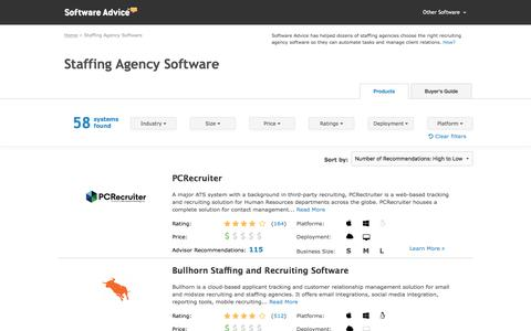 Best Staffing Agency Software - 2017 Reviews & Pricing