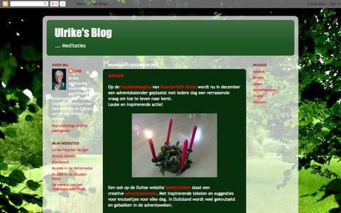 Screenshot of Home Page ulrikehascher-burger.blogspot.com - Ulrike's Blog - captured Oct. 6, 2014