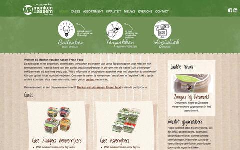 Screenshot of Home Page menkenvandenassem.nl - Menken van den Assem – Fresh Food Concepts - captured Nov. 19, 2016