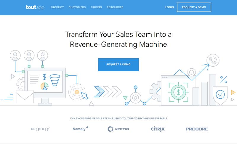 Screenshot ToutApp - Sales Email Tracking, Templates and Analytics