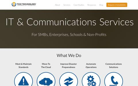 Screenshot of Services Page tccohio.com - IT & Communications Services - captured Nov. 5, 2014
