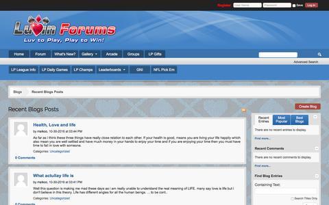 Screenshot of Blog luvinforums.com - Luvin Forums - Recent Blogs Posts - Blogs - captured Sept. 19, 2017