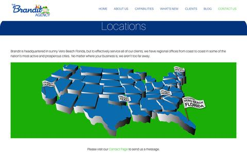 Screenshot of Locations Page thebranditagency.com - Locations | The Brandit Agency - captured Oct. 5, 2014