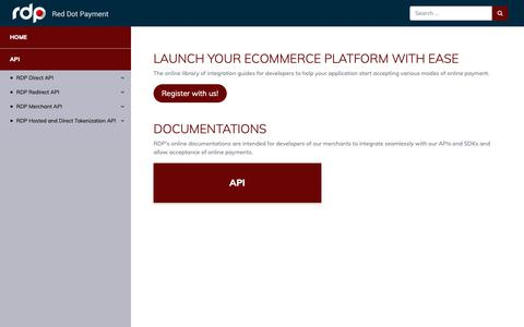 Screenshot of Developers Page reddotpayment.com - Red Dot Payment - captured Oct. 19, 2018