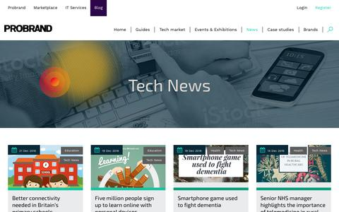 Screenshot of Press Page probrand.co.uk - Tech News | Probrand - captured Sept. 11, 2017