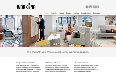 Screenshot of Home Page wspaces.com - Working Spaces - Working Spaces - captured Oct. 19, 2018