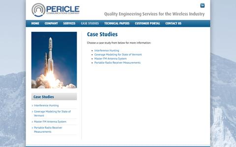 Screenshot of Case Studies Page pericle.com - Case Studies - Pericle Communications Company - captured Sept. 27, 2018