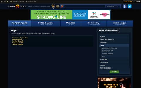 Screenshot of Maps & Directions Page mobafire.com - MOBAFire League of Legends Wiki :: Wiki Home - captured Aug. 19, 2016