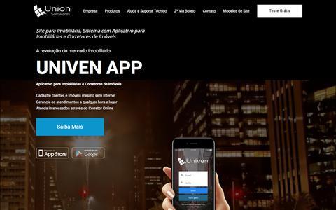 Screenshot of Home Page uso.com.br - Site para Imobiliária + Sistema com Aplicativo para Imobiliária - captured Nov. 28, 2017