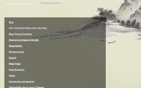 Screenshot of Blog yyoga.nl - Blog - Yoga Yvonne Coppens - captured Sept. 26, 2017