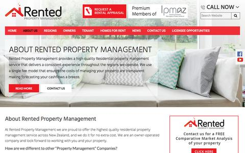 Screenshot of About Page rented.co.nz - About Rented Property Management | Rented.co.nz - captured Sept. 23, 2018
