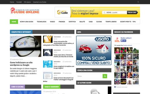 Screenshot of Home Page guide-online.it - Guide online | Guide gratuite e manuali Online - captured Sept. 23, 2014