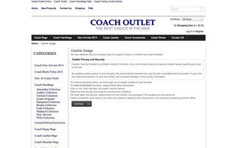 Screenshot of Login Page coachoutlets.cc - Cookie Usage : Coach Outlet Online, Coach Factory Outlet - captured Nov. 4, 2014